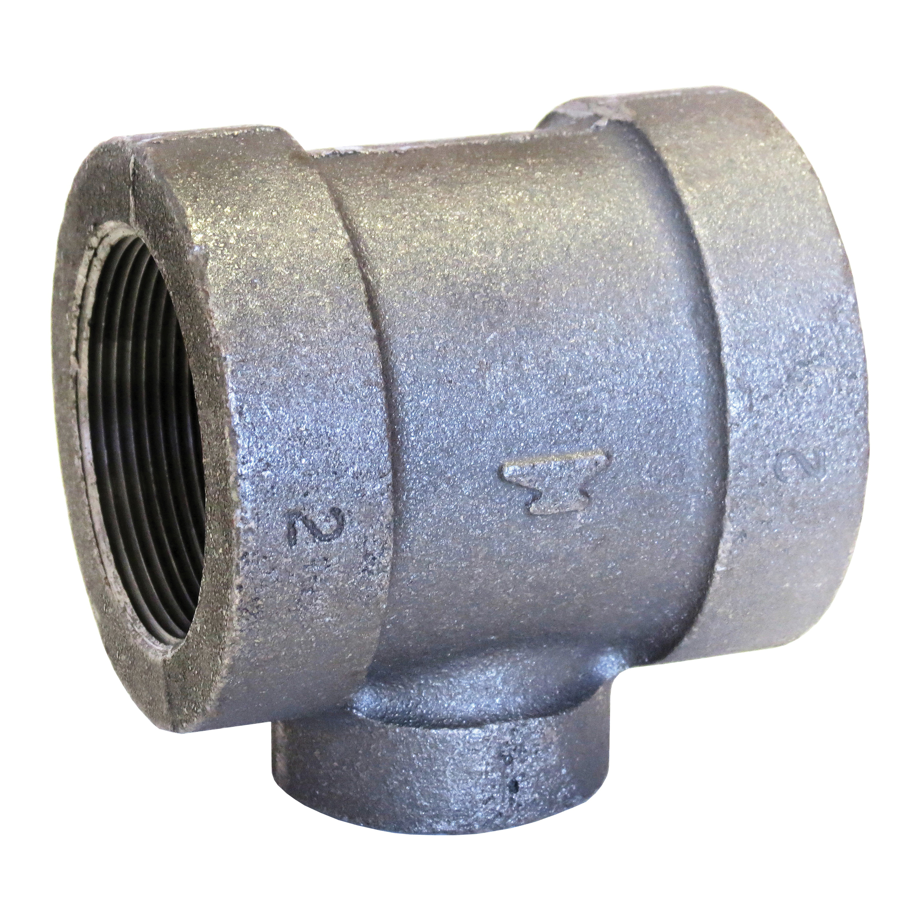 Anvil® 0311525604 FIG 1164R Pipe Reducing Tee, 2 x 2 x 1 in, FNPT, 300 lb, Malleable Iron, Galvanized, Domestic