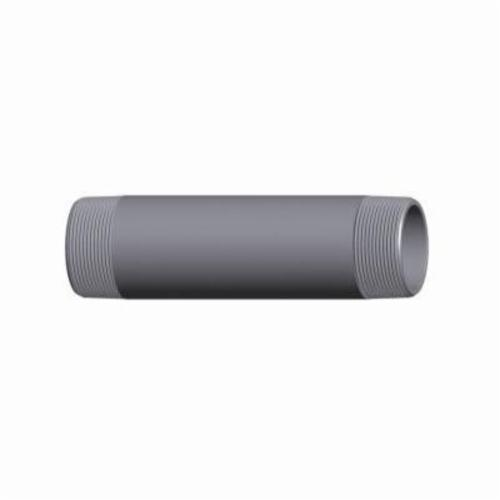 Capitol 15110501 Pipe Nipple, 1/2 in x 1-1/8 in Close L Thread, Carbon Steel, Black, SCH 80/XH, Seamless, Domestic