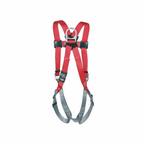 3M Protecta Fall Protection 1191203C Pro™ Harness, 2XL, 420 lb Load, Polyester Webbing Strap, Pass-Thru Leg Strap Buckle, Pass-Thru Chest Strap Buckle, Steel Hardware, Gray/Red