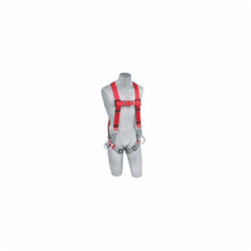 3M Protecta Fall Protection 1191205C Pro™ Positioning Harness, M/L, 420 lb Load, Polyester Webbing Strap, Pass-Thru Leg Strap Buckle, Steel Hardware, Gray/Red