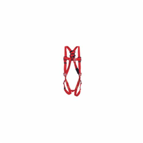 3M Protecta Fall Protection 1191379C Pro™ Welder Harness, M/L, 420 lb Load, Kevlar® Strap, Pass-Thru Leg Strap Buckle, Steel Hardware, Red
