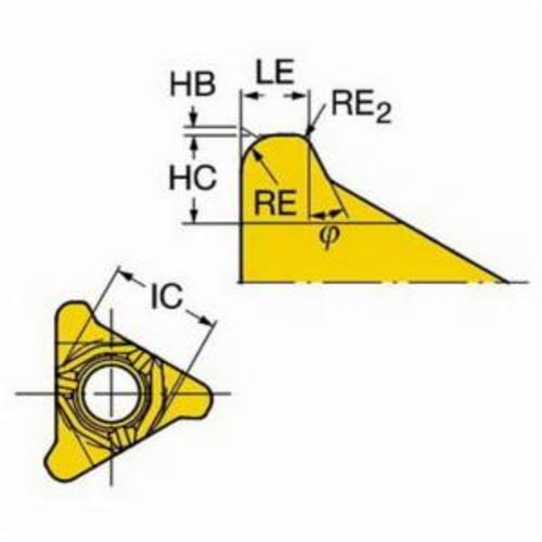 Sandvik Coromant 5965652 CoroThread® 266 Threading Insert, ANSI Code