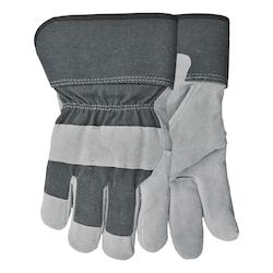 Glove-Cow/heavy sherpa lined/elastic wri