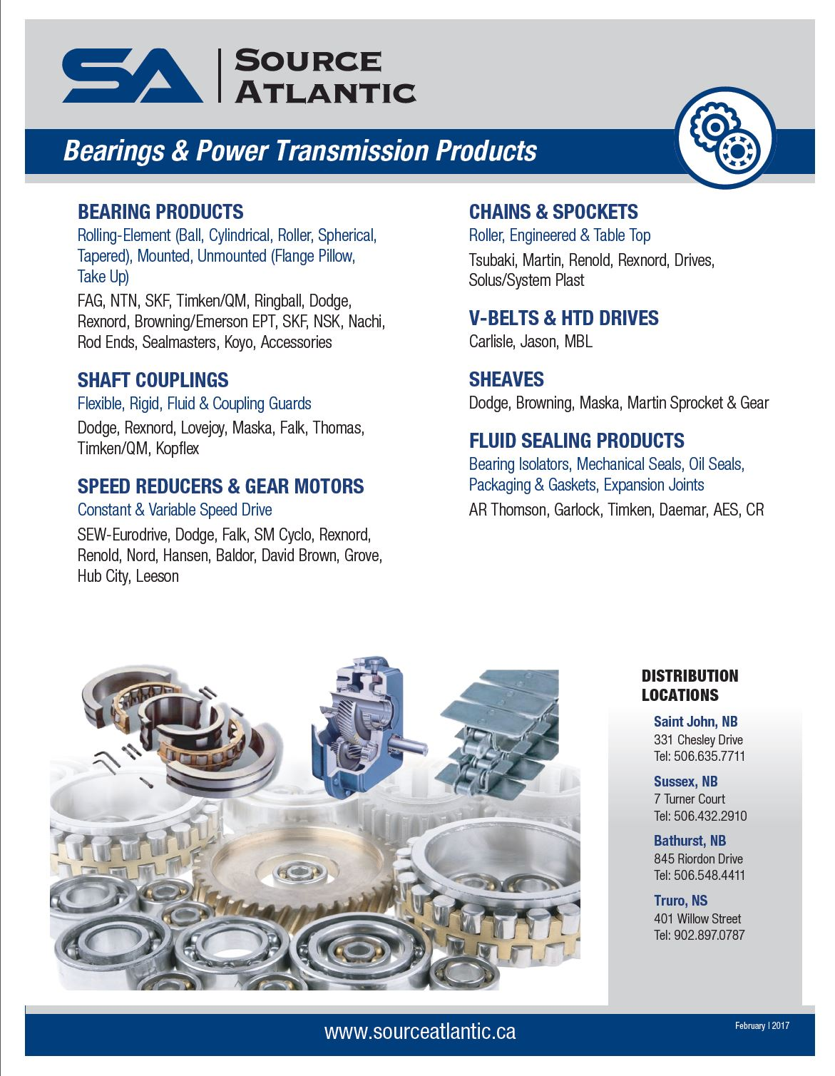 Bearings and Power Transmission Line Card