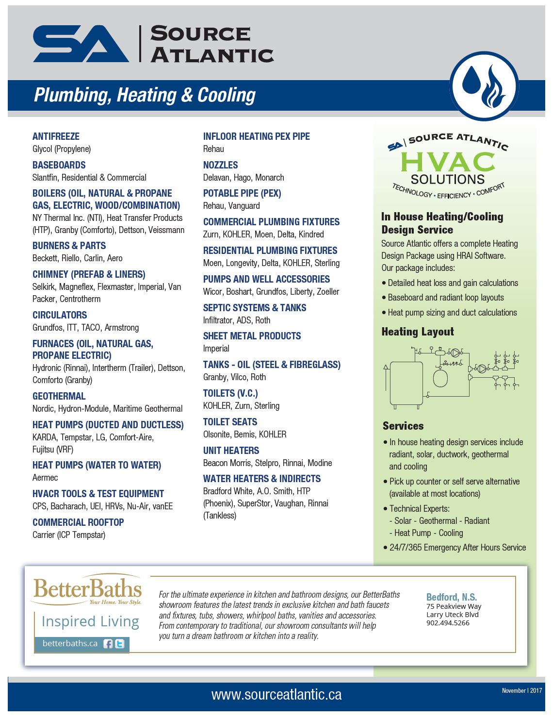 Plumbing and Heating Line Card