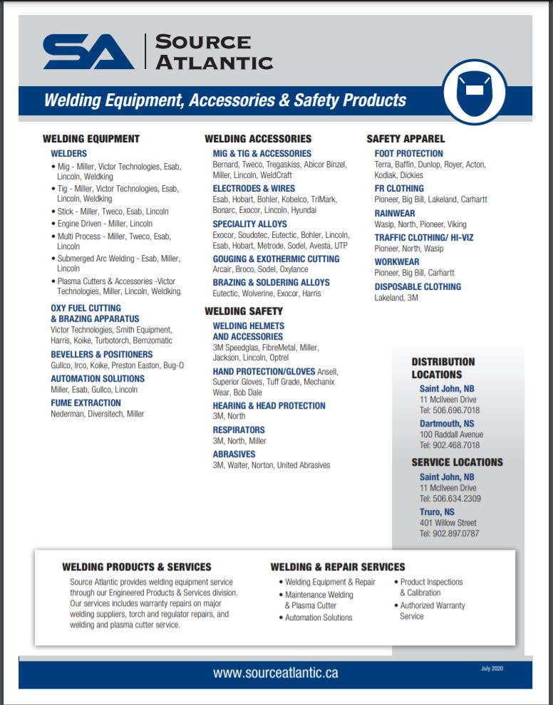 Welding Products and Equipment Line Card