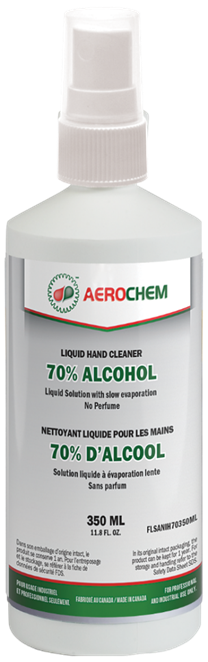 Liquid Hand Cleaner - 350mL with High Quality Sprayer, 70% Alcohol Content, No Perfume