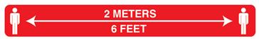 """Sign, 2 Meters, 6 Feet, 3x24"""""""